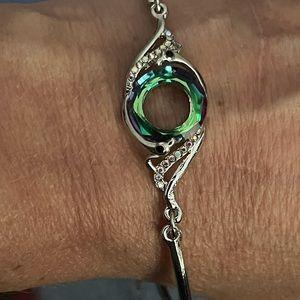 Beautiful Colorful Crystal Peacock Zircon Bracelet